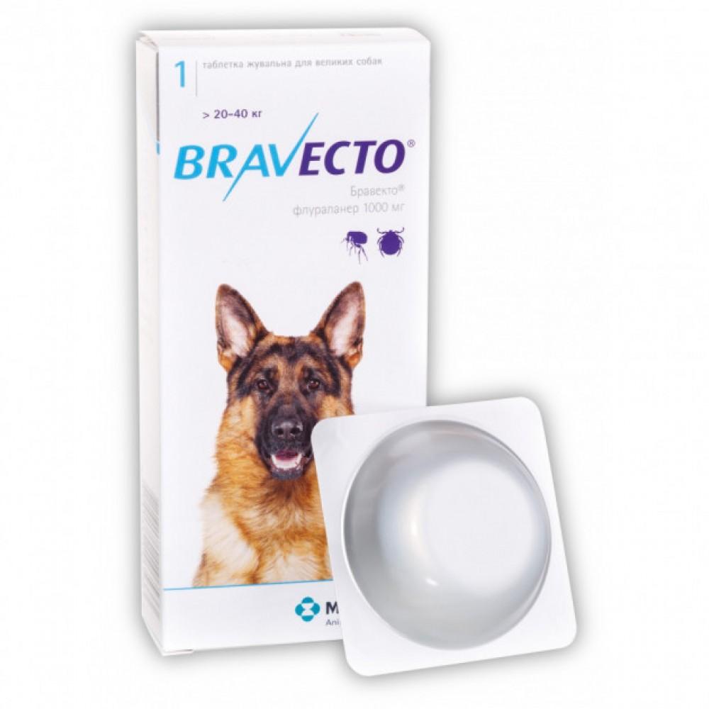 Бравекто BRAVECTO 1000 /> 20-40 кг