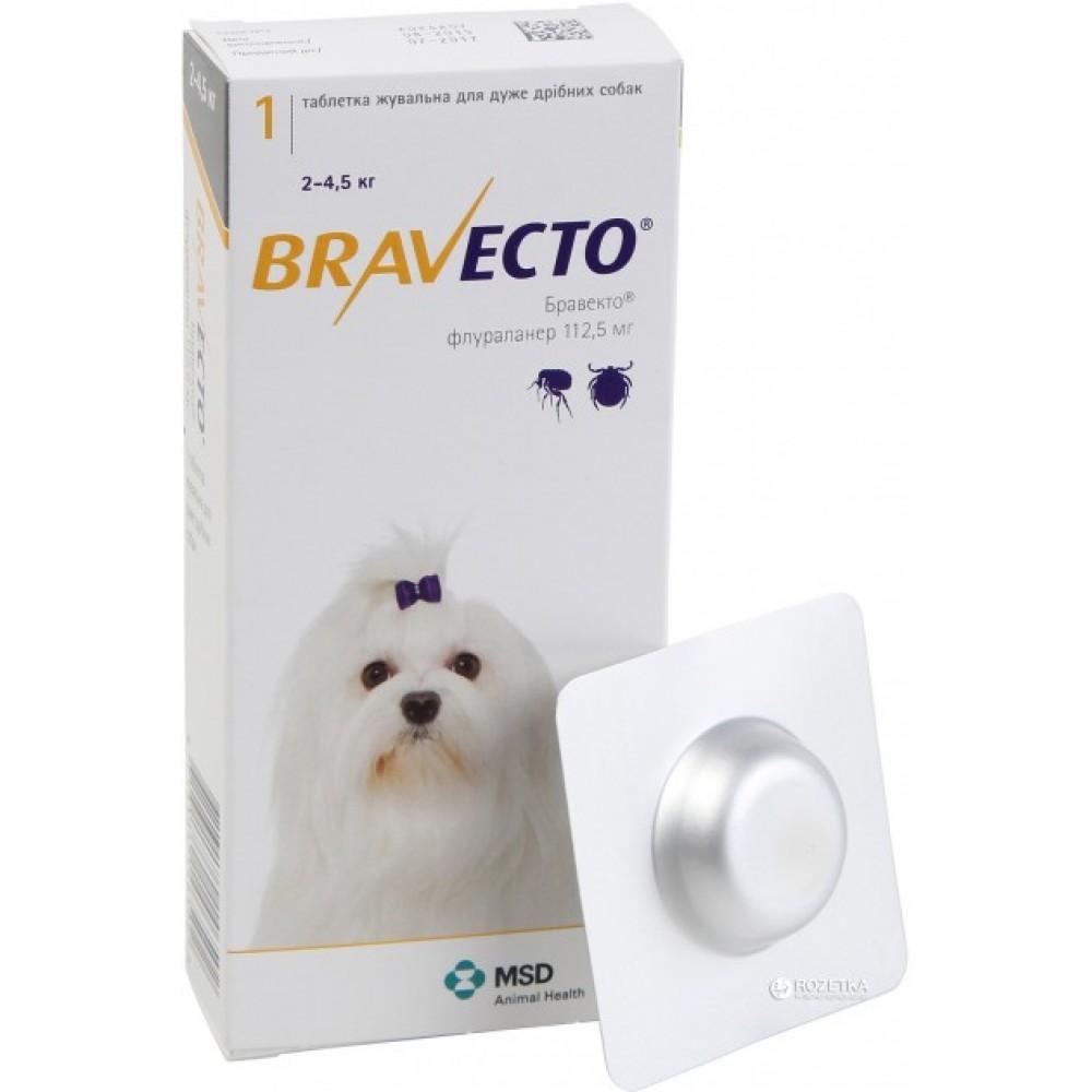 Бравекто BRAVECTO 112,5 / 2-4,5 кг