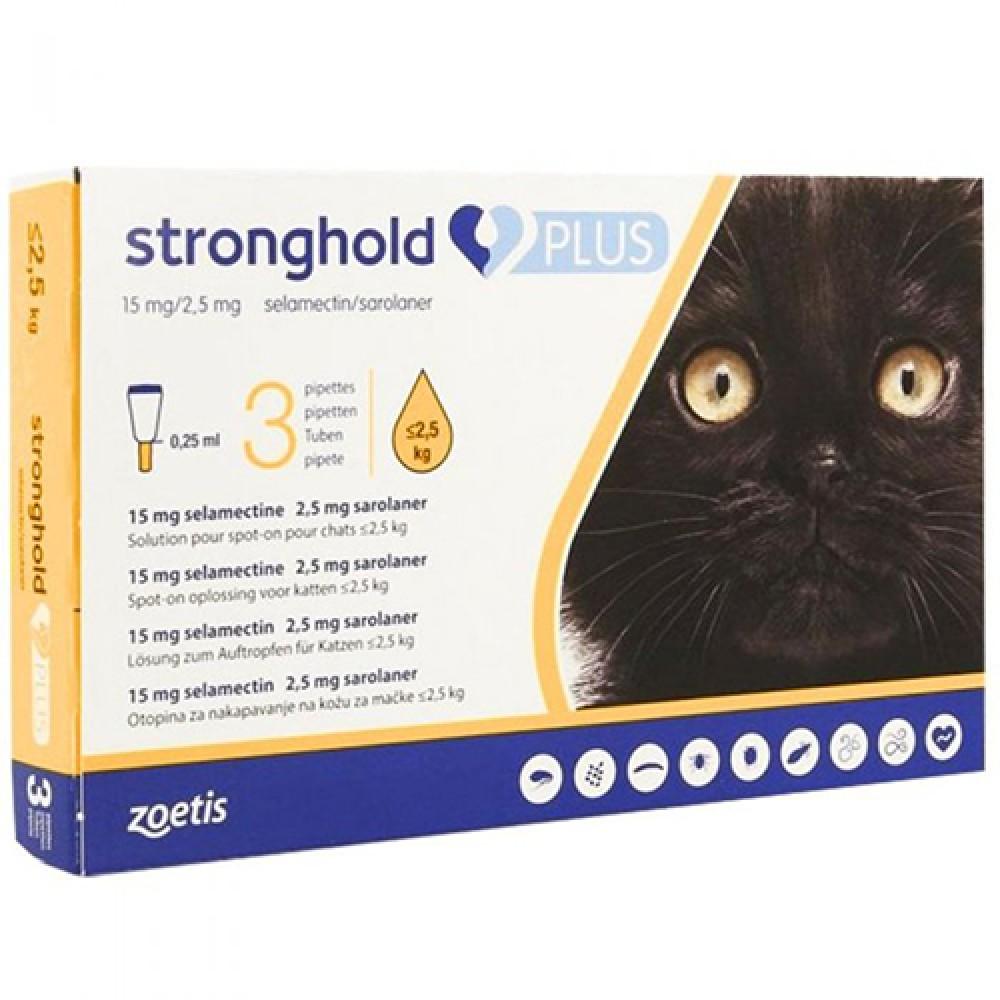 СТРОНГХОЛД ПЛЮС капли для кошек до 2,5 кг